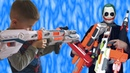 JOKER stole all blasters NERF Джокер украл все бластеры нерф