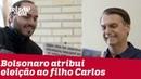 Bolsonaro diz que poderia nomear o filho Carlos como ministro de seu governo