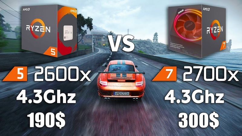 Ryzen 5 2600x vs Ryzen 7 2700x Test in 8 Games