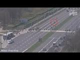 Момент ДТП на Московской в Бресте попал на камеру