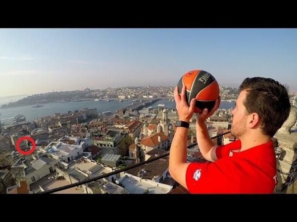 Безумные трюки в баскетболе