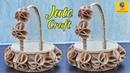 DIY Flower Basket with Jute Rope and Cardboard | Jute Flower Basket | Jute and Cardboard Craft