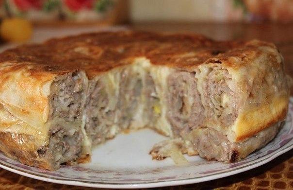 """Пирог """"Лаваш в заливке"""". Вкусное сытное блюдо!"""