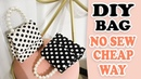 DIY PURSE BAG Cute Dots HandBag Tutorial No Sew Fantastic Idea