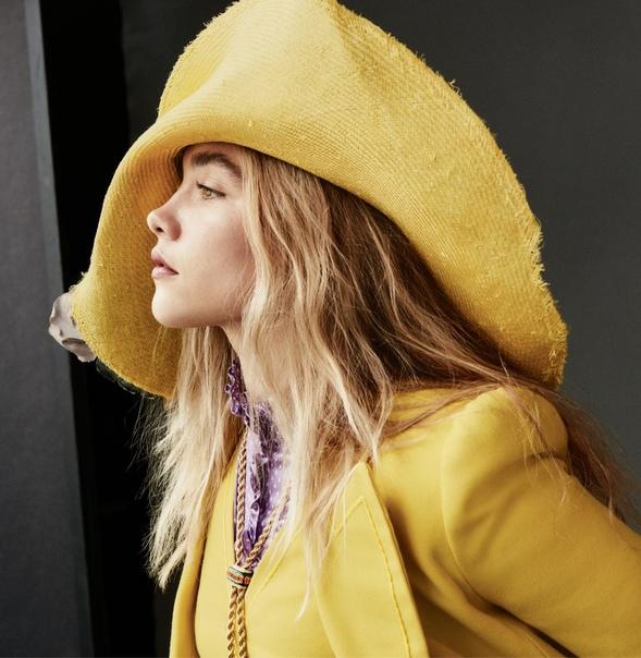 Звезда «Солнцестояния» и «Маленьких женщин» Флоренс Пью в объективе Vogue Дэниэл Джексон