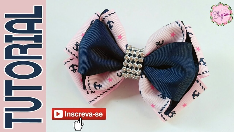 New Laço Angel 🎀 Ribbon Bow Tutorial 🎀 DIY by Elysia Handmade
