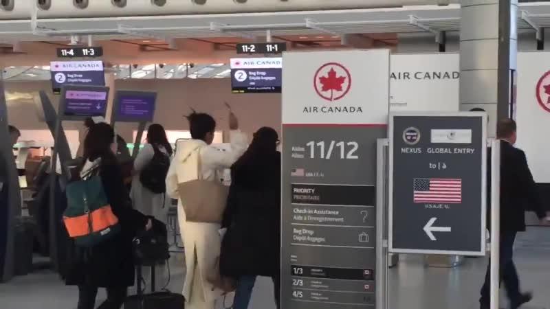 Actress Priyanka Chopra spotted at Pearson Airport this morning
