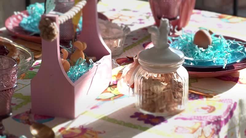 Скатерть Доляна «Светлая Пасха», 110 × 144 см, 100 % хлопок, рогожка, 164 г/м²