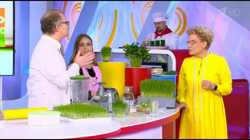 Елена Малышева Витавим витграсс, сок ростков пшеницы, Здорово жить 21.05.2019