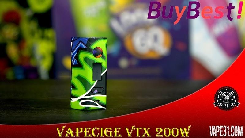 VAPECIGE VTX 200W - с цветным дисплеем, который программировал криворукий китайский дядюшка ЛЯО