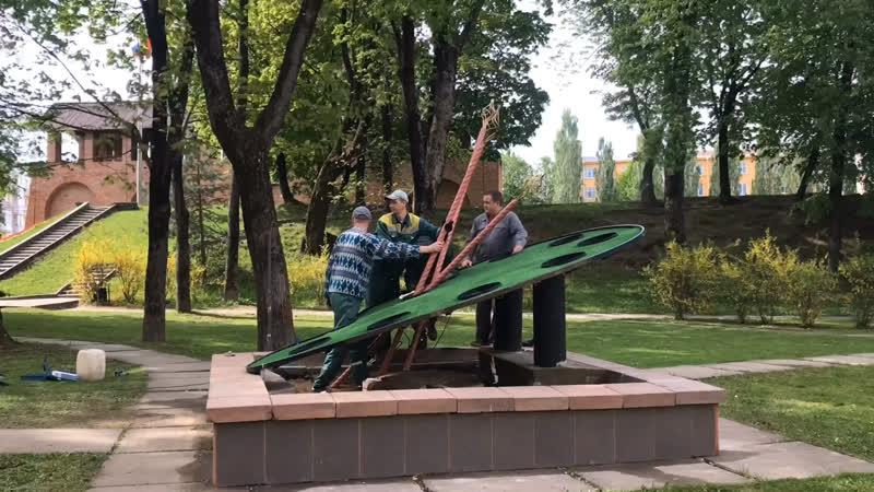 В Смоленске появился цветник Палитра художника