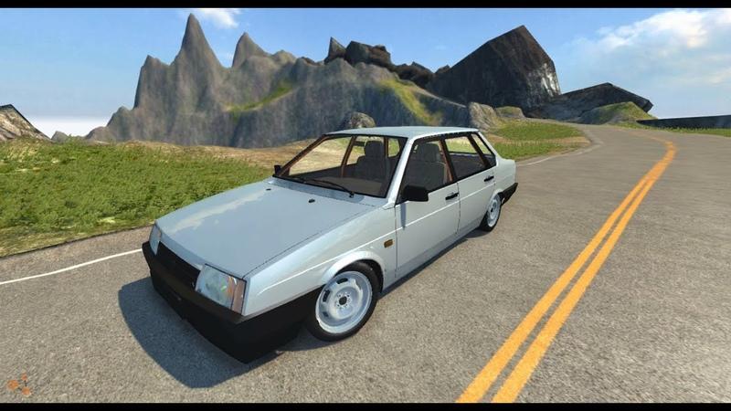 BeamNG.Drive Mod LADA 21099 V2.0 (physics Crash test)