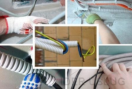 Прокладка кабеля в гофре – картинка 1