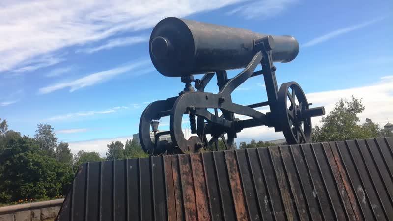 г. Петрозаводск. Пушка отливки 1852 года.