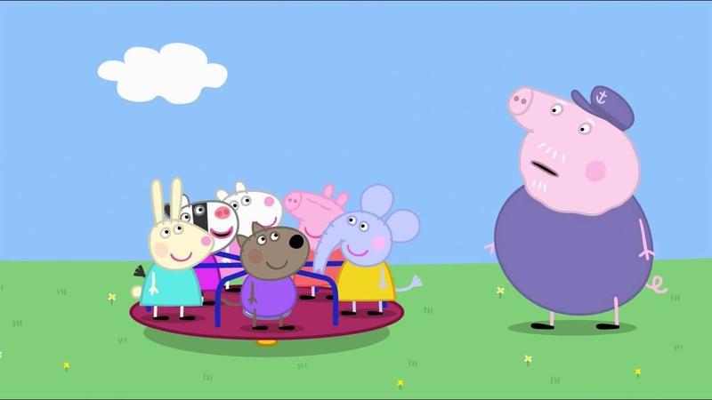 Peppa Pig - Grandpa at the Playground (22 episode / 3 season) [HD]