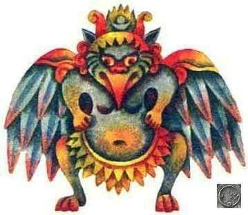 Гаруда - птицечеловек. Многие индийские легенды содержат сюжеты о мифической птице гаруде огромных размеров, способной перевозить людей. В одной из них рассказывается о похищении гарудой