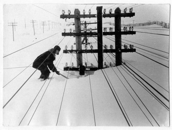 Зима в Сибири, 1960г.
