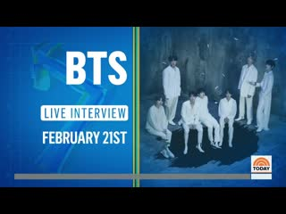 Bts will be coming back to the usa and will be at nbc's today show on february 21 (day the album drops) for a special live inter