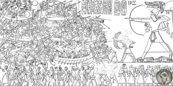 Рамсес III последний великий правитель Древнего Египта Египет в период Нового Царства вел войны в Леванте, поэтому неудивительно, что фараоны этого времени прославились военными победами.
