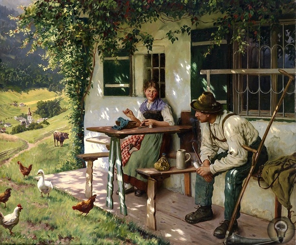 ХУДОЖНИК EMIL RAU(1858-1937),ГЕРМАНИЯ