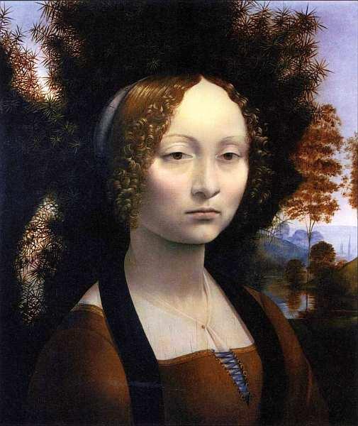 « одного шедевра». «Портрет Джиневры де Бенчи», Леонардо да Винчи