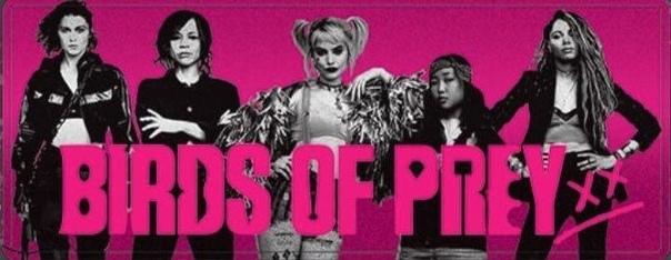 Цветастые промо-материалы блокбастера «Хищные птицы» Премьера состоится в феврале.
