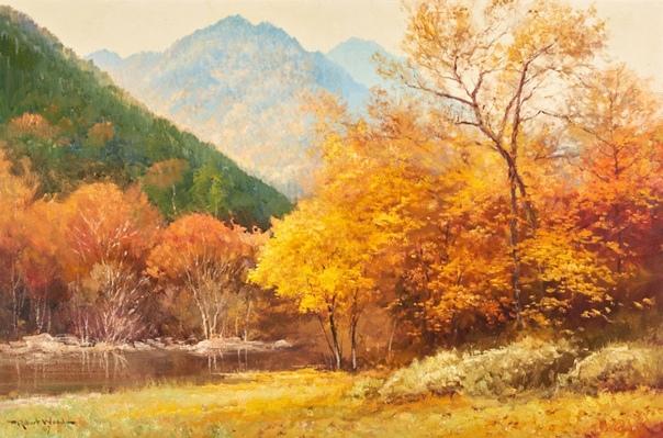 ...Осень положила свои краски. Художник Robert W. Wood(American, 1889-1979)... Роберт Уильям Вуд (4 марта 1889 года - 14 марта 1979 года) был американским пейзажистом. Он родился в Англии,
