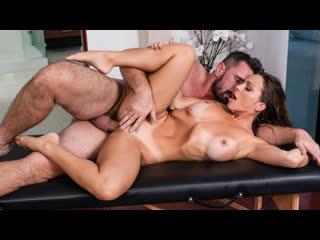 Abigail mac serviced in her room (big tits, blowjob, brunette, massage, oil)