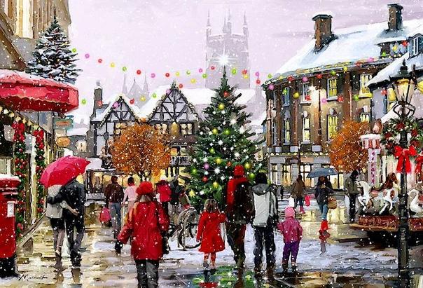 Рождественское настроение в иллюстрациях Ричарда Макнейла