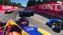 Индикар Гран-при Торонто Сумасшедшие онборды первого круга