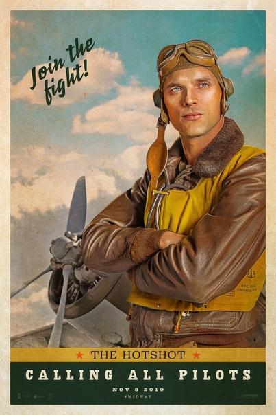 Крутые ретро-постеры военного фильма «Мидуэй» от Роланда Эммериха