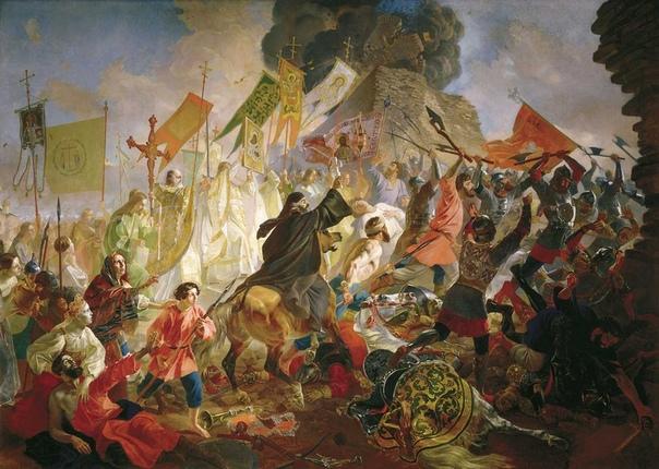 ДВЕ КАРТИНЫ, ПОСВЯЩЕННЫЕ ОСАДЕ ПСКОВА 1681 ГОДА.