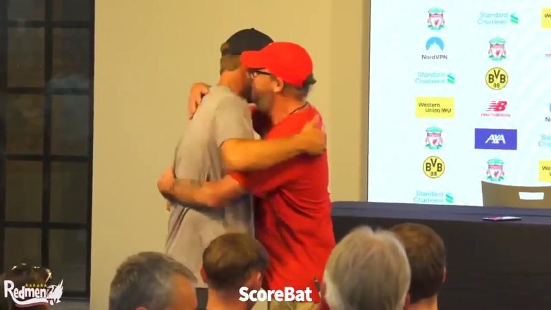 Journalist asks for Klopp hug! | Liverpool 2-3 Borussia Dortmund | Press Conference