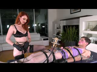 kendra james involuntary sissygasm [femdom, bondage milking machine stockings sissy cbt forced orgasm]