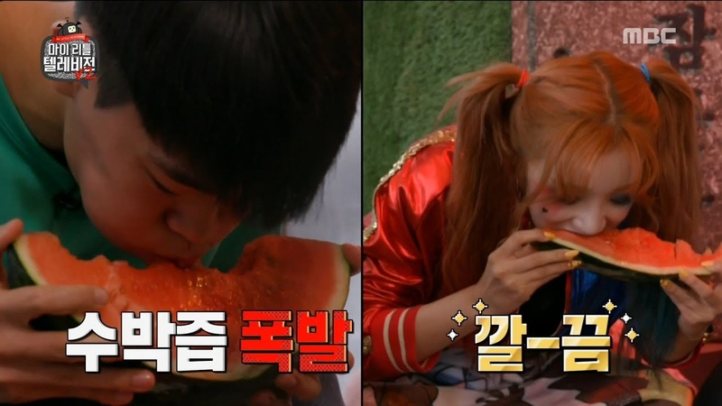 [HOT] have a fight to eat watermelon, 마이 리틀 텔레비전 V2 20190719