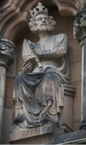 КОРОЛЬ ОФФА И ЗОЛОТОЙ МАНКУС В конце V столетия в Британию с континента вторглись англосаксонские племена. В течение столетий оккупанты-англосаксы создали на острове Британия несколько