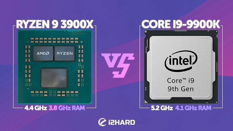 Тест AMD Ryzen 9 3900X 4.4GHz vs Intel Core i9-9900K 5.2GHz в играх