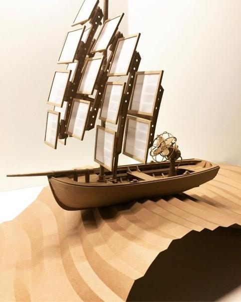 Картонные скульптуры Грега Олийника, вдохновлённые стимпанком