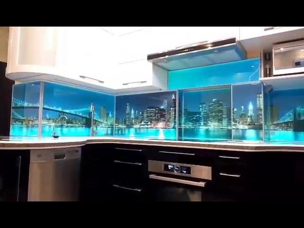 Test №6 1 Внутренняя RGB подсветка стеклянного фартука для кухни