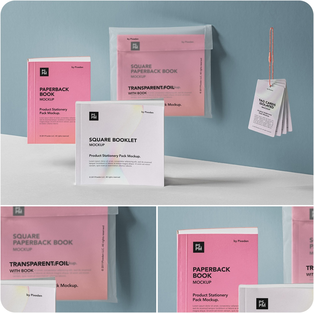 Manuals Product Stationery Pack Mockup-PIXEDEN