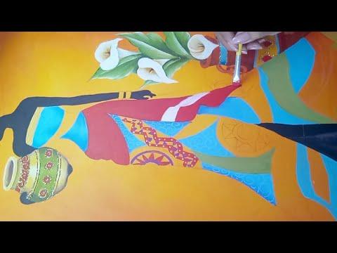 Como Pintar Un Cuadro De Africana Con Pintura Acrilica
