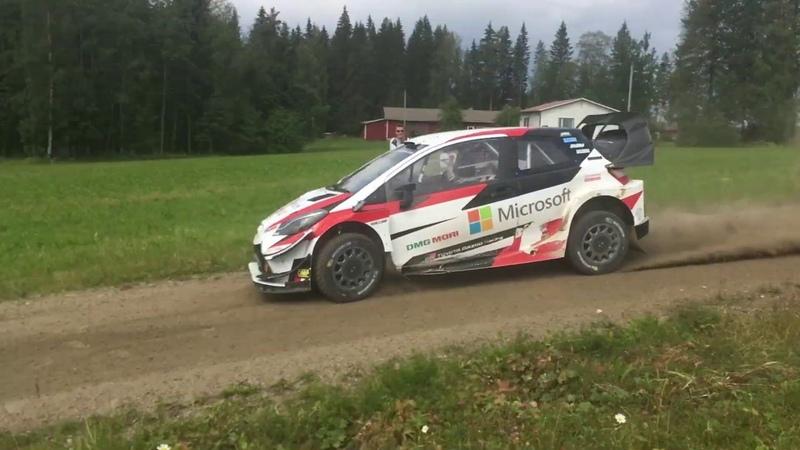 Тесты Toyota и Криса Мика перед ралли Финляндии 2019