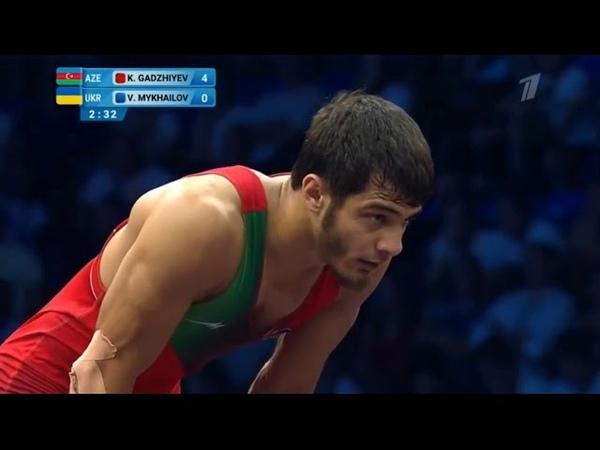 74кг за бронзу Михайлов Василий Украина Гаджиев Гаджимурад Азербайджан Евроигры 2019