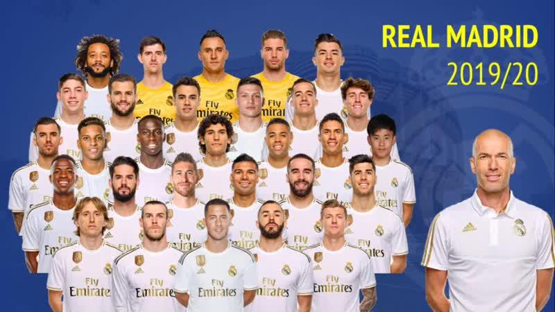 Real Madrid Squad 2019-20 Pre-season.mp4