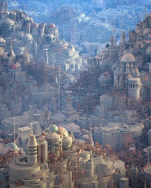 Мэтью Борретт создает антиутопические городские пейзажи, от которых захватывает дух Канадский художник Мэтью Борретт творит воображаемые городские пейзажи, вдохновленные любовью к архитектуре и
