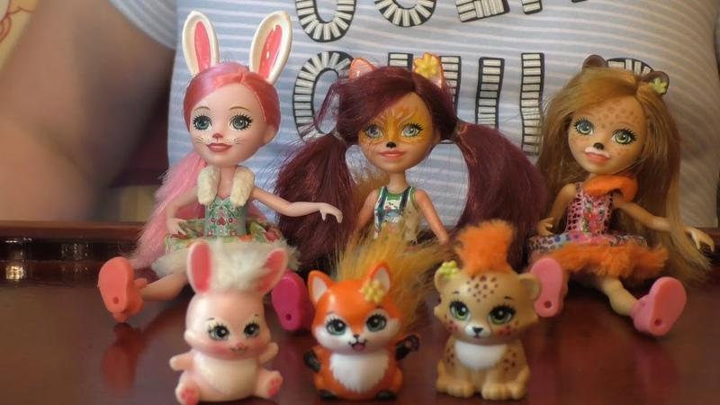 Enchantimals Обзор набора Кукла со зверюшкой Гепард Чериш и ее питомец Квик-Квик