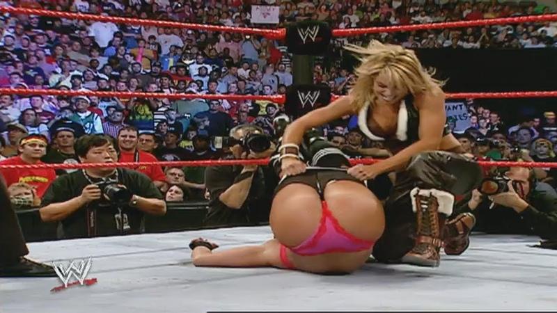 Trish Stratus Ashley Massaro vs. Vinces Little Devils - 10-3-2005 Raw