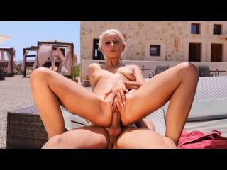 Julia parker debuts with poolside fuck (blonde, blowjob, natural tits, european, facial, outdoor)