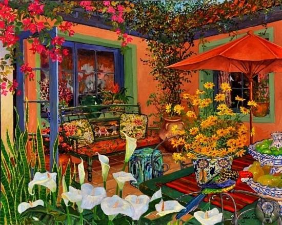 ХУДОЖНИК JOHN POWELL. ДРАКОНЫ И МЕКСИКАНСКАЯ СТРАСТЬ . Просто невероятные цветы и цвета на картинах современного американского художника Джона Пауэлла. Художник Джон Пауэлл (John Powell) родился
