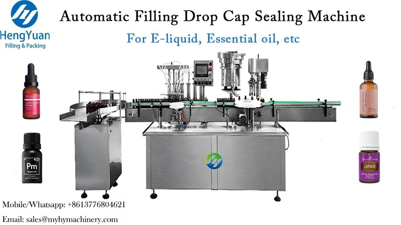 Automatic Filling Dropper Cap Sealing Machine Essential Oil Bottle Filler Capper